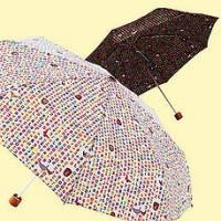 [韓国雑貨]小さなハングル模様がステキ 晴雨兼用の折り畳み傘[韓国 雑貨] [かわいい] [アジアン...