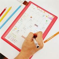 [韓国雑貨]重たい手帳は持ちたくない! 1枚で使い切るタイプのスケジュール管理帳《選べる3タイプSE...