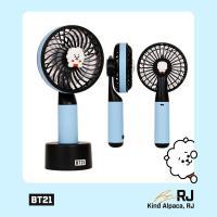 [韓国雑貨]=BT21公式グッズ= HANDY FAN <RJ>  (BT21 ハンディー扇風機) ...