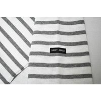 SAINT JAMES(セントジェームス) L/S BOATNECK BASQUE SHIRT(長袖ボートネックバスクシャツ) OUESSANT(ウエッソン) NEIGE/GRIS(WHITE/GREY)