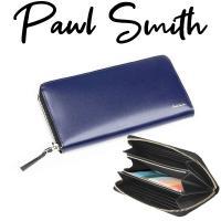 ポールスミス Paul Smith 財布 長財布 ラウンドファスナー 革製 レザー 男性用 メンズ ...