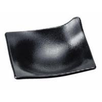 盛器 ワンホールプレート黒石目(L) [11 x 11 x 4.5cm] ABS樹脂 (7-568-12) 料亭 旅館 和食器 飲食店 業務用