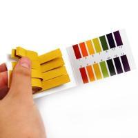 PH有効範囲:1-14  試験紙を試験液に漬けると、試験紙の切片の色が変わります。 変わった色をケー...