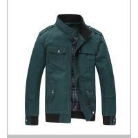 ジャケット メンズ カジュアル 無地 綿100% スタンドカラー 柔らかい ミリタリー風