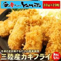 三陸カキフライ 600g(20粒入) 牡蠣 かき 揚げ物 惣菜 冷凍食品
