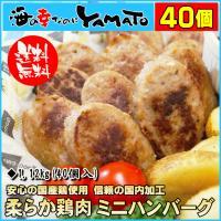 やわらか鶏肉ハンバーグミニ 1.12kg 40個入り 鳥 とり トリ 惣菜 お弁当 冷凍