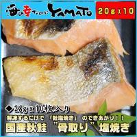 解凍するだけで 「秋鮭塩焼き」 のできあがり!!  ・内容量 20g x 10 ・原材料 さけ、食塩...