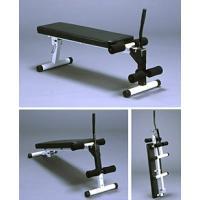 傾斜をつけて、通常の腹筋と足上げ腹筋のトレーニングに最適。さらに、フラットになりますのでダンベルセッ...