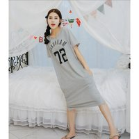 人気 大きいサイズ レディース ビッグロゴ ロングTシャツ ワンピース ロング ロングワンピース  送料無料