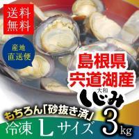 しじみ 島根県・宍道湖産冷凍しじみ Lサイズ 3kg(3キロ)【L3】