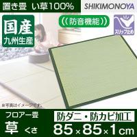 簡単に設置できる置き畳です。表面は天然素材のい草を100%使用した身体に優しくサラッとした肌触りです...