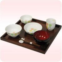 ミッフィーのお食い初め8点セット  セット内容:茶碗×1、小皿×1、小鉢×1、湯のみ×1、     ...
