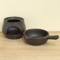 アヒージョやタパスなどの鍋としてもご利用いただける耐熱陶器のソースパン 片手鍋です。チーズフォンデュ...