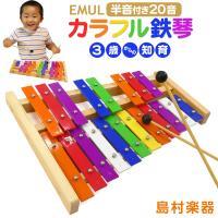おもちゃ感覚で楽しめる、リーズナブルプライスの鉄琴。 楽器としても楽しめるように、調律された音板を使...
