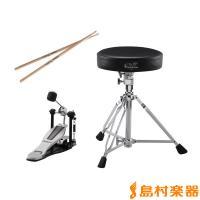 Vドラム・ユーザーに便利なアクセサリー・パッケージ。 ドラム・スローンは三脚部がダブル・レッグ仕様、...
