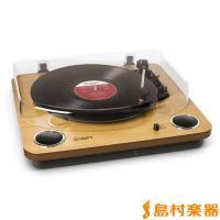 Archive LPの上位機種! 天然木デザインアナログレコードプレーヤに3Wのステレオスピーカをビ...