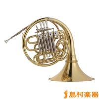 【B♭、F両方の音域を合わせ持つホルンのスタンダード。フルダブルモデルです。】 ○特徴 ■ベル支柱に...