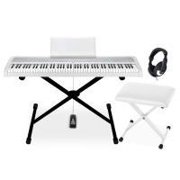 [初心者におすすめの電子ピアノB1のX型スタンド・椅子・ヘッドホンセットです。] ○セット内容 ■電...