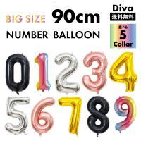誕生日 数字 最大級 約90cm ビッグ バルーン 風船 数字 ゴールド シルバー 誕生日 イベント ナンバー ゴールド シルバー パーティー