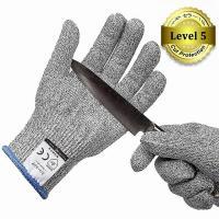 素材:超高強度ポリエチレン糸、レザーより4倍強い耐切創手袋 サイズ:M(手の平幅:10cm、全長:2...