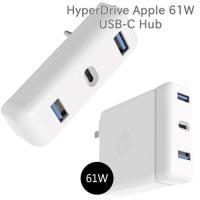 HyperDrive Apple 61W 電源アダプタ用 USB-C Hub MacBook Pro 13インチ Apple純正電源アダプタ 拡張 Apple Power Adapter アタッチメント ヂュアルチャージャー shinbeejapan