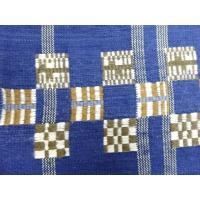 新品 杉村製 手織り真綿紬格子に変わり市松模様織り出し全通袋帯(未仕立て)
