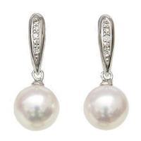 送料無料 ギフト対応 真珠パール イヤリング 上品で優しさのある輝きが魅力のあこや本真珠です。 パー...