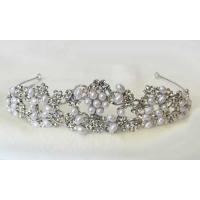 ティアラ パール 真珠 ブライダル ティアラ パーティー 結婚式 6月誕生石アイビーとハートをモチー...