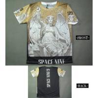 Tシャツ メンズ 中世/絵画/翼/エンジェル インクジェットプリント 半袖