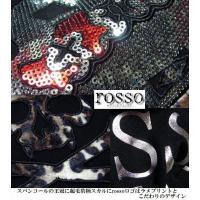 ロンT Tシャツ メンズ ロッソ rosso/VICE FAIRY クラウン スカル スパンコール ドクロ