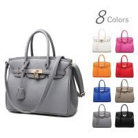 女性らしい上品なバッグ。高級感のあるデザインが、おしゃれ度をUPさせてくれます。 ゴールドの鍵部分は...