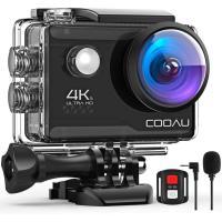 アクションカメラ 4K 2000万画素 30M 防水 WiFi ウェアラブルカメラ 手ブレ補正 ダイビング アクションカム 170度広角レンズ HDMI出力 Goproのサブカメラ