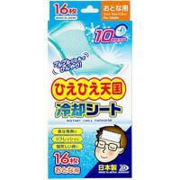 『2個セット』【送料無料】ひえひえ天国 冷却シート大人用 16枚入り(2枚×8袋) 白金製薬 冷却用品