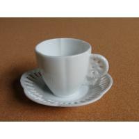 cs009 デミタスカップ&ソーサー ミニサイズ コーヒーセット エスプレッソ 白磁 陶器 ポーセラーツ
