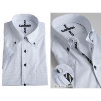 半袖 形態安定加工 メンズ ドレスシャツ 形状安定 ワイシャツ yシャツ アゼック 通気