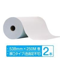 梱包 緩衝材 ボーガスペーパー ロール 厚口タイプ 幅538mm×250m巻 2本 (2本×1箱)|shisenkan2010