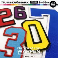 数字の色・縁刺繍の色が自由に選べる背番号ワッペンです!  プロ野球のユニフォームにも使用されている糊...