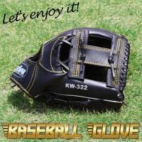 野球グローブ 一般軟式用 カラー黒  サイズ12インチ グローブ左腕装着用/ボール右投げ 訳あり内容...