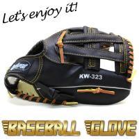 野球グローブ 一般軟式用 カラー黒   サイズ12インチ  グローブ左腕装着用/ボール右投げ 材質/...