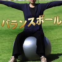 バランスボール 75cm 全身の筋力トレーニング、 有酸素運動、ストレッチなど、いろんな運動に対応す...