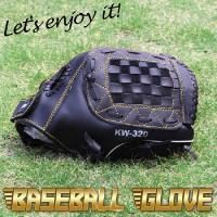 野球グローブ 一般軟式用 カラー黒  サイズ12インチ   グローブ左腕装着用/ボール右投げ   材...