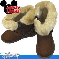 昨年大ヒットしたミッキーマウスのかわいいムートンブーツ。 サイドにファスナーの付いた脱ぎ履きしやすい...