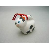 贈り物にピッタリです。清水焼団地の人形の藤原こと、京陶人形錦染の豆干支 戌(犬)の子 張り子犬です。...