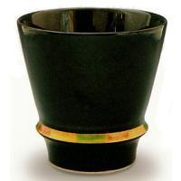 焼酎グラス 有田焼 ハッピーリング黒 焼酎グラス