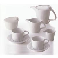 白山陶器の作品です専用のコーヒーポット、シュガーポットとクリーマー、ピッチャーがついたカフェセット☆...