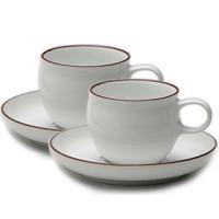 白山陶器の作品ですカップと取っ手が一体となった丸みのある作りがかわいらしい逸品です☆フチをわずかに反...