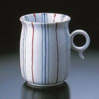 白山陶器の作品です持ちやすいように、Q型の取っ手が指に自然にかかるように作られています。また、口を付...