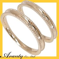 結婚指輪 マリッジリング ペアリング 2本セットです。指輪の使用貴金属は、K10ピンクゴールドK10...