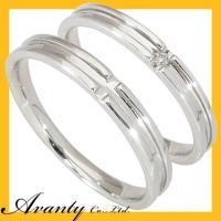 結婚指輪 マリッジリング ペアリング ペアセットです。地金はK10ホワイトゴールド K10WGです。...