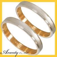 結婚指輪 マリッジリング ペアリング 2本セットです。指輪の地金貴金属は、K18ホワイトゴールド(K...